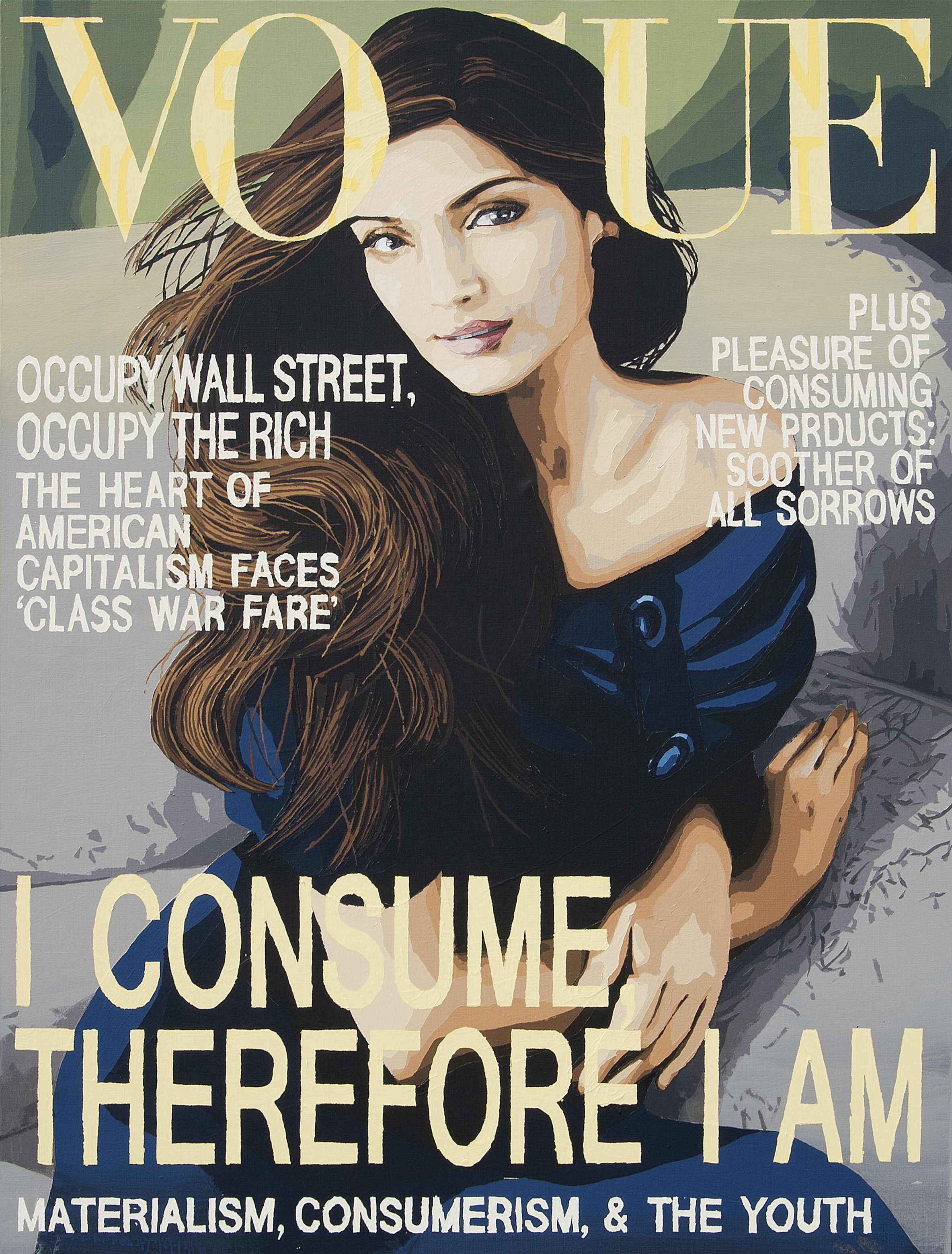 VOGUE NOVEMBER 2011 _ I CONSUME, THEREFORE I AM 162X123cm acrylic on canvas 2012.jpg